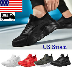 Men#x27;s Womens Sneakers Athletic Shoes Mesh Fitness Trainer Running Tennis Sports $18.99