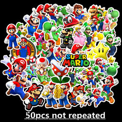 50pcs Super Mario stickers Kids Nursery Removable Wall Decal Art Home Decor $6.99