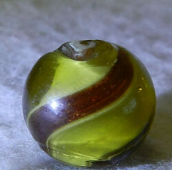 5531m Colored Glass Ribbon Lutz Vintage German Marble .58 Inches $199.99