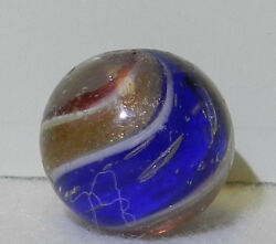 8551m Vintage German Handmade 2 Color Ribbon Lutz Marble .64 Inches $119.99