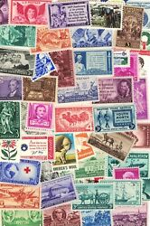 LOT OF 50 VINTAGE ALL DIFFERENT MINT U.S. POSTAGE STAMPS ALL MINT NEVER HINGED $6.79