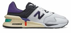 New Balance Men#x27;s 997 Sport Shoes White with Blue $61.37