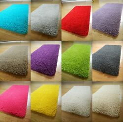 NEW SOFT PLAIN SHAGGY MATS WASHABLE NON SLIP LARGE SMALL BEDROOM RUGS RUNNERS UK $46.41