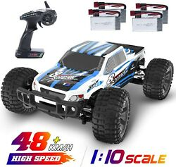 4WD RC Cars 1:10 High Speed Remote Control Car 48 kmh 2.4GHz Monster Truck Gift $119.99