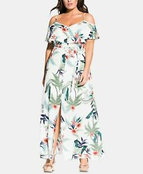 City Chic Trendy Plus Size Bahamas Maxi Dress XXL $34.85