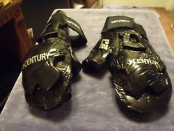 2 Pair Century Martial Arts Student Hook and Loop Sparring Gloves BK Adult S $15.00