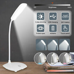 Dimmable LED Desk Light Table Bedside Reading Lamp Touch Sensor USB Rechargeable $9.88
