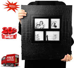 Photo Album 600 Pockets Leather Cover Black Pages Big Capacity for 4x6 Fotos $30.00