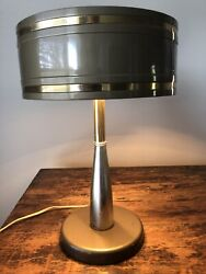 Mid Century Lamp bauhaus mcm vtg vintage desk table office Nessen era atomic $228.00