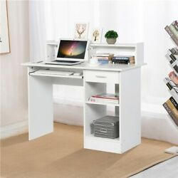 Home Office Computer Desk Workstation Wood Laptop PC Table with Drawer Shelf $129.99