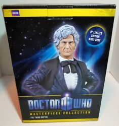 Doctor Who BBC 3rd Third Doctor Maxi Bust Statue Masterpiece Titan New in Box C $85.00