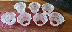Victorian frosted glass shades for vintage or antique fixtures 4quot; fitter $69.00