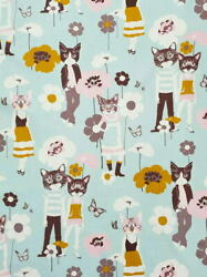 Alexander Henry Nicole#x27;s Prints Cool Cats Grey Novelty Cotton Fabric BTY $13.95