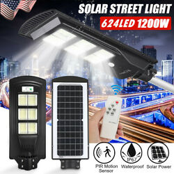 990000LM Solar LED Street Light Commercial Outdoor Area Security Road Lamp Pole