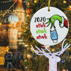 2020 stink stank stunk ornament Grinch Christmas funny ornament Xmas Gift US $5.73