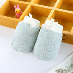 Baby Gloves Adjustable Baby Cotton Drawstring Newborn Anti scratch Anti Scratch $7.59