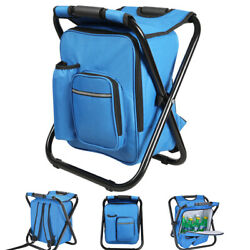 Multifunction Fishing Backpack Chair Portable Hiking Camping Stool Camouflage $18.88