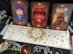 Altar stand with sun for TarotLenormandOracle cardwitch divination tools $34.00