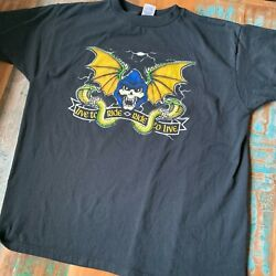 Super Cool Reaper Skeleton Biker Motorcycles Shirt Mens XL Live To Ride Goth $15.99