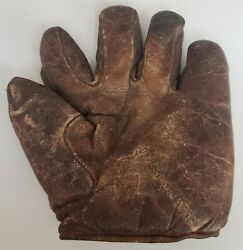 VINTAGE EARLY 1900#x27;S SPALDING BASEBALL GLOVE MITT SPLIT FINGER FULL SEWN T WEB $474.99