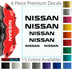 6 Nissan Decal Vinyl Stickers for Brake Caliper Heat Resistant 3 Sizes $14.99
