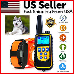 2600 FT Remote Dog Shock Training Collar Rechargeable Waterproof LCD Pet Trainer $28.49