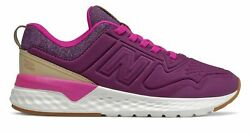 New Balance Kid#x27;s 515 Sport Little Kids Female Shoes Purple with Off White Size $20.46