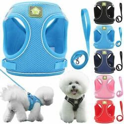 Pet Small Dog Puppy Harness Breathable Mesh Padded amp; Leash Set Vest Chest Strap $7.70