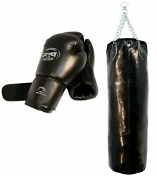 Heavy Duty Pro Boxing Gloves amp; Pro Huge Punching Bag with Chains New Punching $51.45