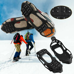 24 Teeth Winter Ice Snow Anti Slip Crampons Cleats Shoes Spike Grip Boot Gripper $14.95