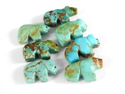 Vintage Carved Fetish Turquoise Beads Bear for Necklace Lot $59.84