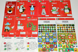 Bright Minds by Nicole Lot of 14 Christmas Crafts Foam Kits Ornaments Stickers $31.49