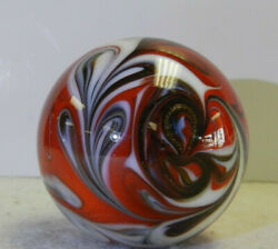 #11663m Handmade Contemporary Swirl Marble With Lutz 1.55 Inches $39.99