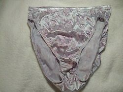 Vintage Hanes Purple Lavender Shiny Second Skin Satin Panties Size 7 L $39.99