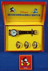 Brand New Disney INTERCHANGEABLE WATCH with Crystal Covers $99.00