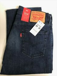 Levi#x27;s Men#x27;s 514 Jeans Size 29 x 32 NEW Straight Leg Stretch MSRP $59.50 $34.50