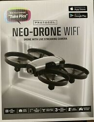 NEW SEALED Protocol Neo Drone Wifi Drone w Live Streaming Camera amp; Voice Command $72.99