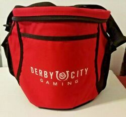 Derby City Gaming Red Nylon Insulated Cooler Adjustable Carrying Strap Promotion $5.00