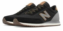 New Balance Men#x27;s 501 Ripple Sole Shoes Black with Grey $34.99