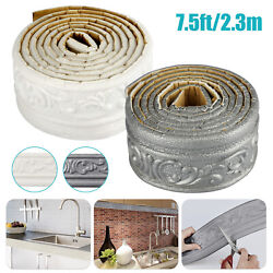 7.5FT Waterproof 3D Wallpaper Borders Wall Decor Stickers Self adhesive Kitchen $19.48
