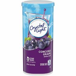 Crystal Light Concord Grape Drink Mix 2.01 Oz Total 6 Pitcher Packets $4.13