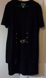 LL Martin All In One Dress Jacket Black Size 16 $12.00