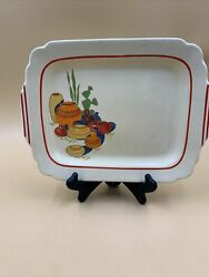 Vintage Homer Laughlin Riviera Mexicana Hacienda Rectangle Platter $29.95