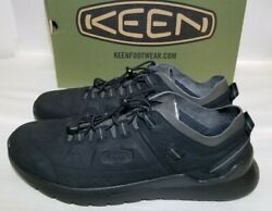 Keen Highland Men#x27;s Street Trail Black Leather Sneakers 1022660 New Size 13 $64.00