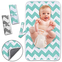 Portable Changing Pad 2 Pack Baby Waterproof Diaper Changing Pad Reusable and $14.71