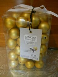 NWT Yankee Candle Decorative Fill Silver Jingle Bells amp; Gold Ornaments Unscented $14.99