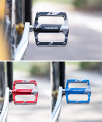 ROCKBROS Bicycle Pedals Alu 9 16quot; Pedals Non Slip Sealed Bearing MTB 3 Colors $23.99