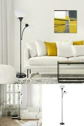 Matte Black Torchiere Floor Lamp $39.99