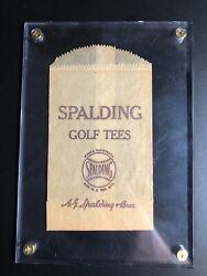 Spalding Original Vintage Wooden Golf Tee Bag Spalding Bros Manufacturer $19.95