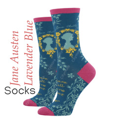 Socksmith Womens Novelty Crew Socks Jane Austen Novelty Footwear WNC717 STB $7.90